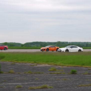 ポルシェ911ターボS、R35 GT-R NISMO、ホンダNSXという「ハイパワー4WD」のドラッグレース!欧州だと価格が近い3車の勝敗は?