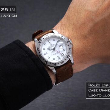同じサイズの腕時計でも「細腕」さんと「太腕」さんがつけるとこんなに違う!さらに同じケースサイズでもデザインによってこれだけ見え方が変わる
