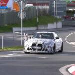 BMW M部門50周年記念車、M4 CSLがニュルブルクリンクでテスト中!過激なエアロを装着し爆音とともに激走中