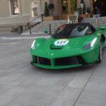 モナコに集結したフェラーリの一団!数々の限定モデルのほか「ジャミロクワイが所有していた」世界に唯一、シグナルグリーンのラフェラーリの姿も