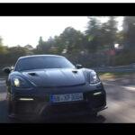 ついにポルシェ718ケイマンの公式ティーザー動画公開!なんとニュルを7分4秒で走り、AMG GT R Proやマクラーレン720S/600LTよりも速異タイム